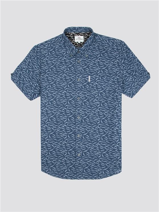 dbfd481b3af8 Men s Short Sleeve Navy Seagull Shirt