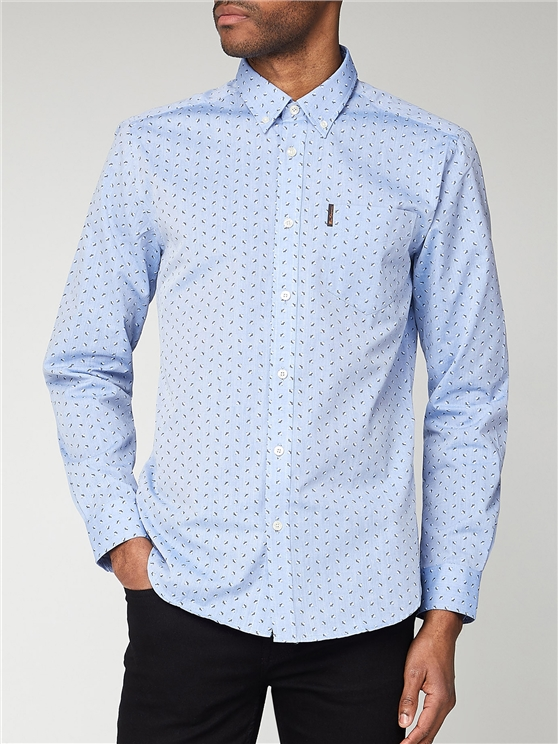 Leaf Motif Long Sleeve Shirt