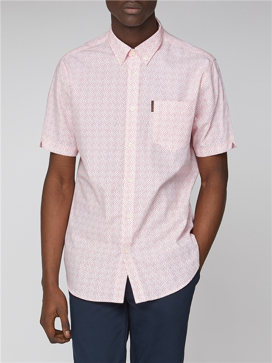 Fish Print Short Sleeve Shirt