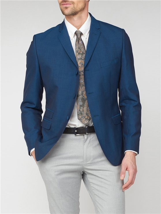 Teal Tonic Suit Jacket