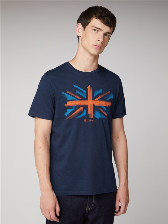 Spray Arrow Union Jack T-Shirt
