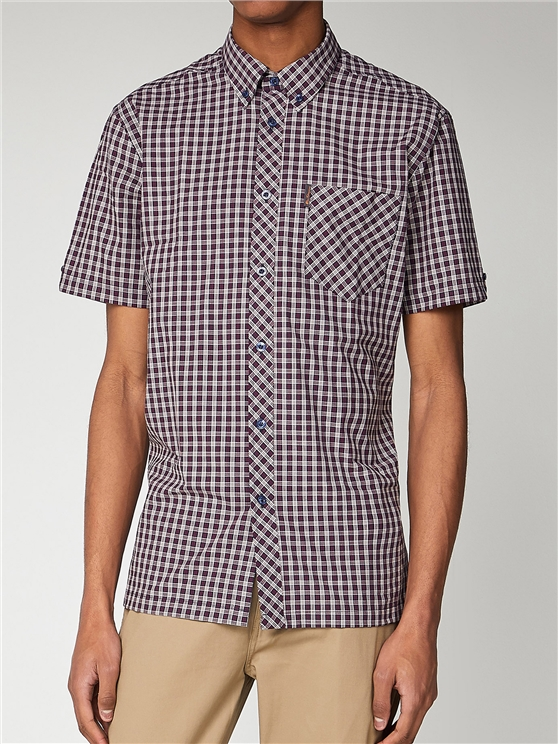 Micro Check Short Sleeve Mod Fit Shirt