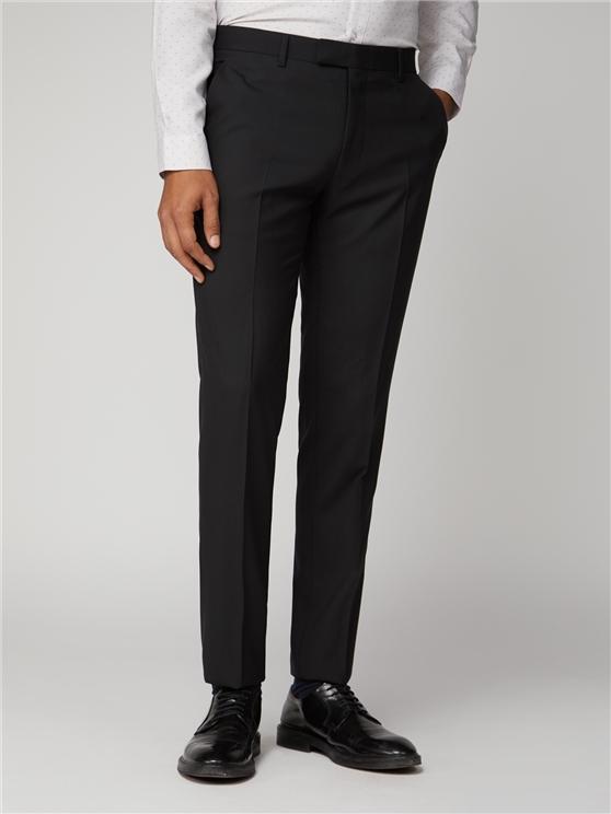 Black tonic suit trouser
