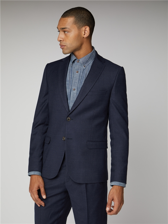 Navy Flannel Suit