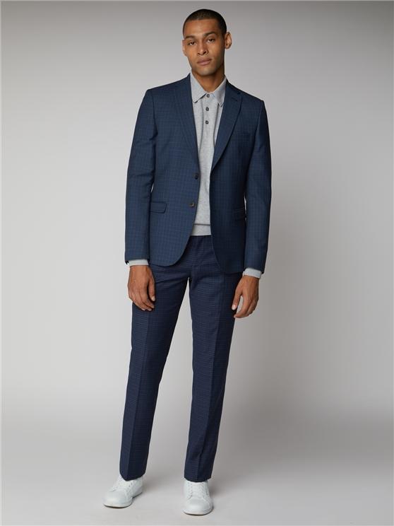 Blue Mod Micro Check Suit