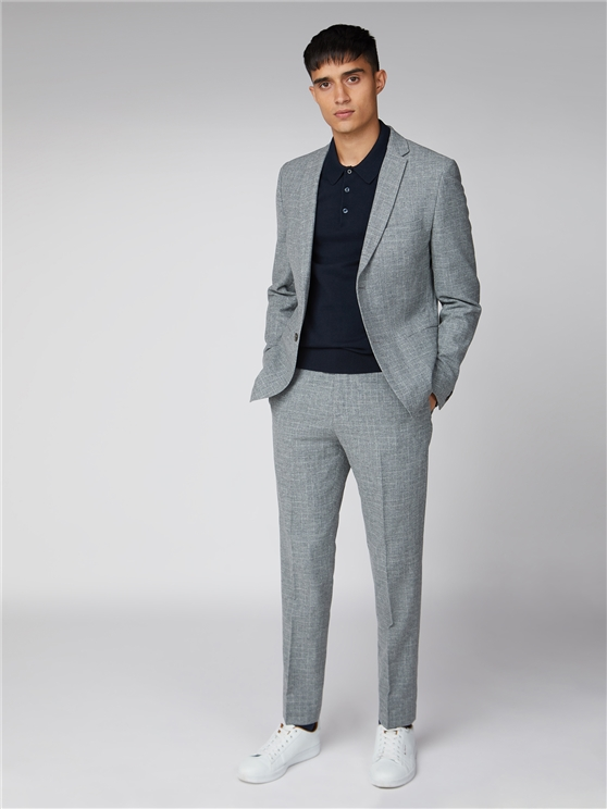 Light Grey Broken Check Suit