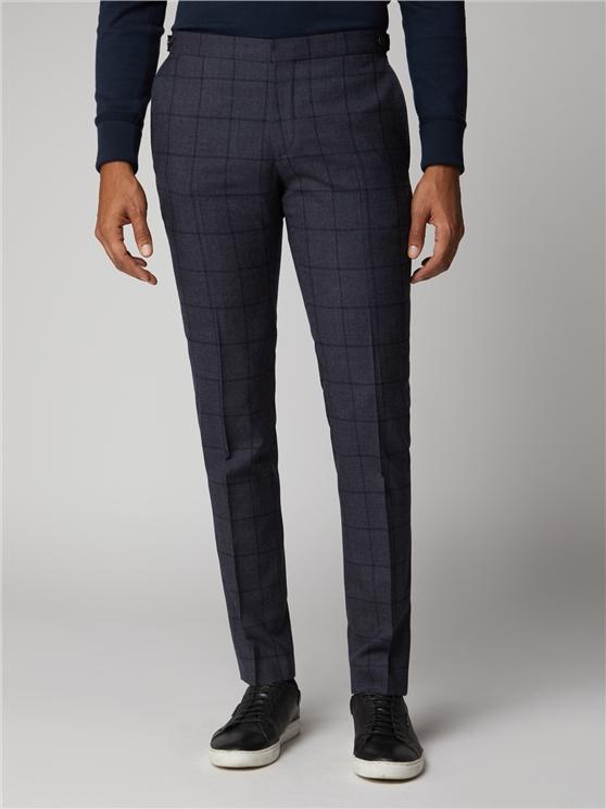 British slate windowpane suit trouser