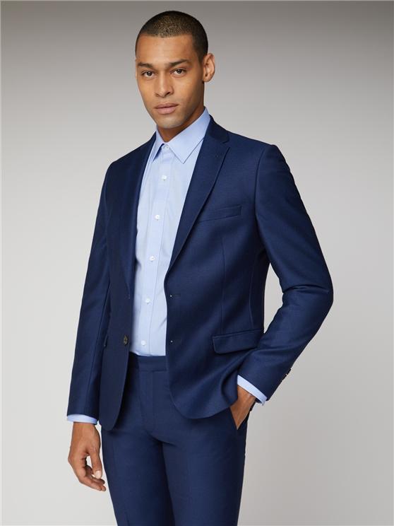 British bright blue crepe suit jacket