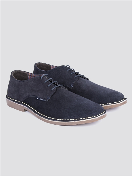 Danny Navy Suede Shoes