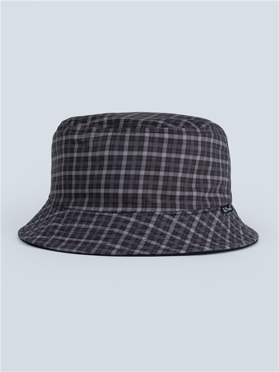Check Reversible Bucket Hat