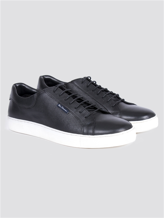 Black Leather Portico Trainer