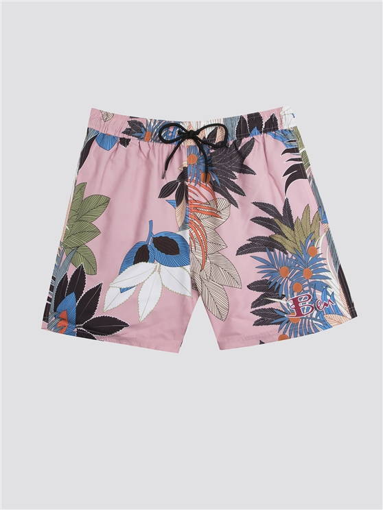 Multi Tropical Print Swim Short