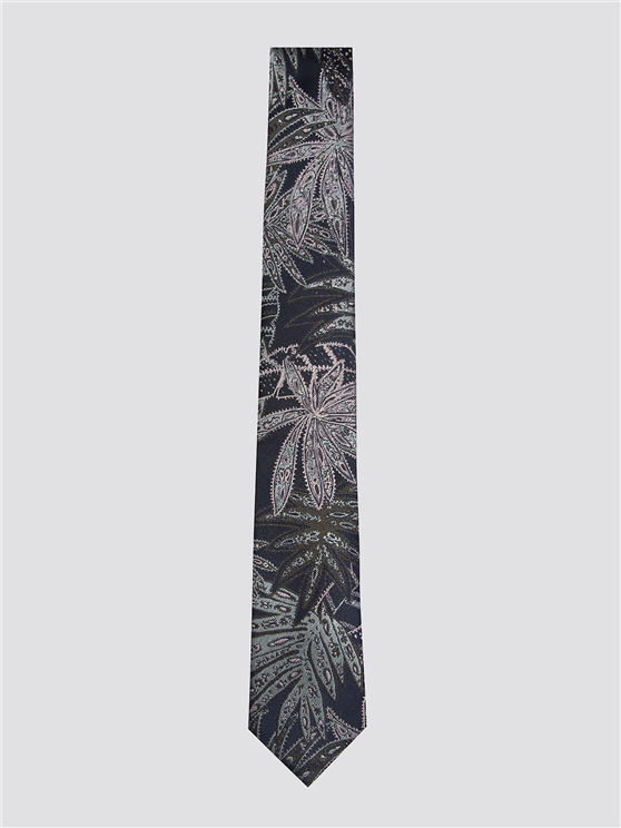 Navy All Over Print Tie