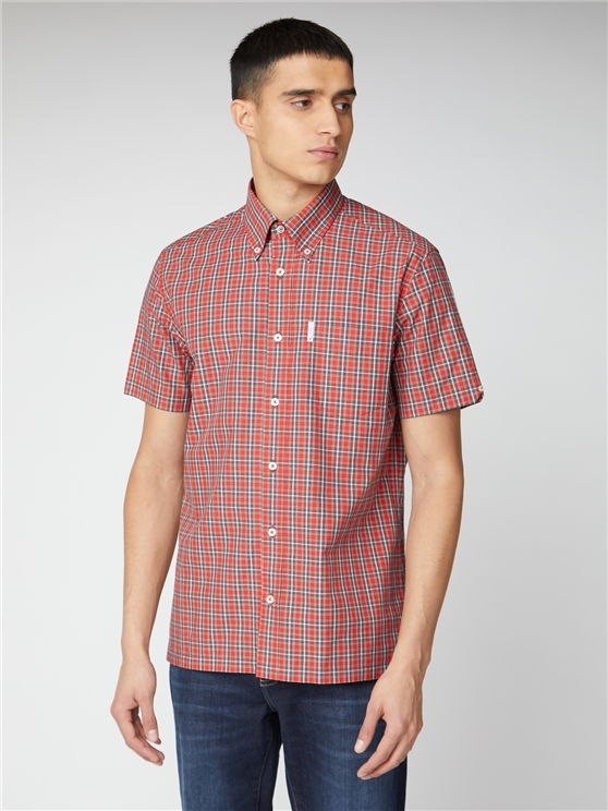 Archive Harrison Red Checked Button Down Shirt
