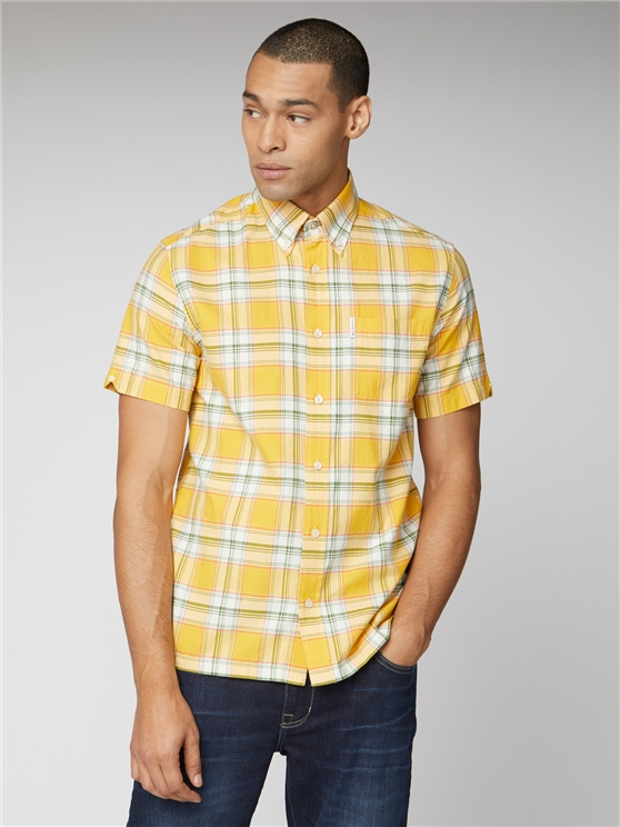 Archive Melody Yellow Checked Button Down Shirt