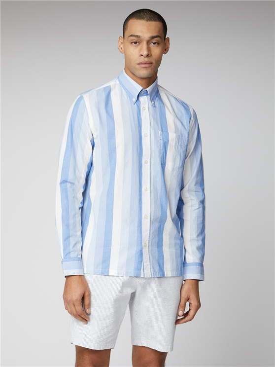 Archive Martin Blue Striped Long Sleeve Shirt