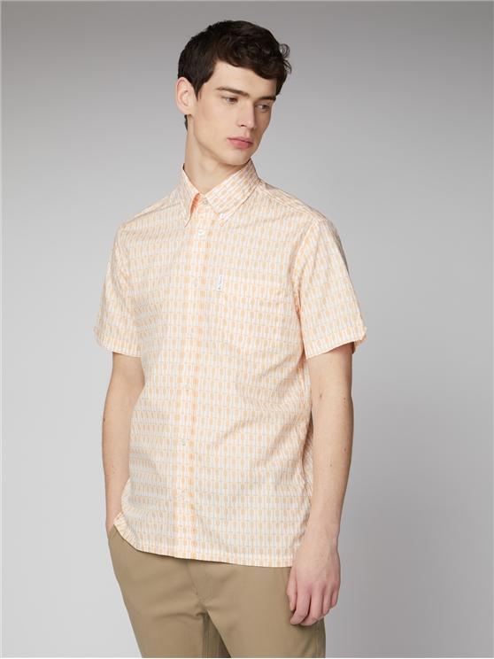 Archive Piper Peach Retro Pattern Shirt