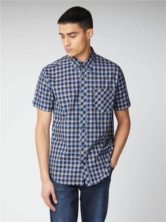 Dark Navy Check Shirt