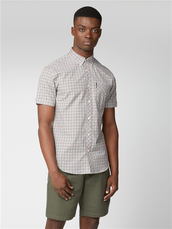 Mini Gingham Check Short Sleeve Shirt