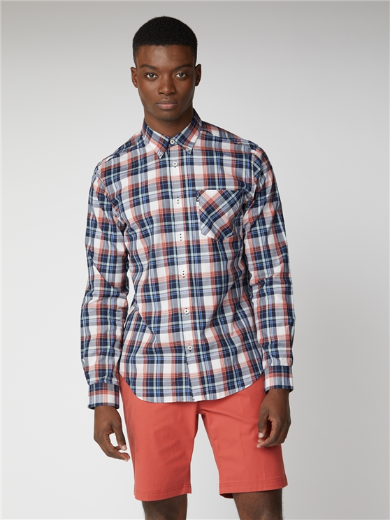 Textured Check Shirt