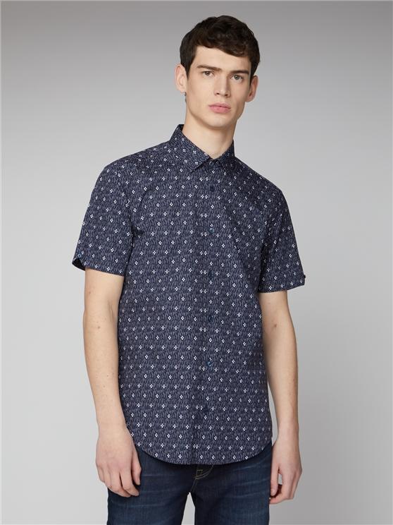 Navy Digi Print Shirt