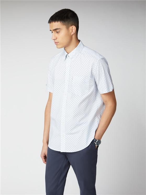Sky Polka Print Shirt