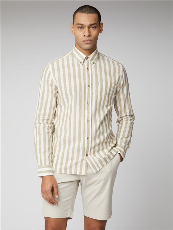 Linen Candy Stripe Shirt