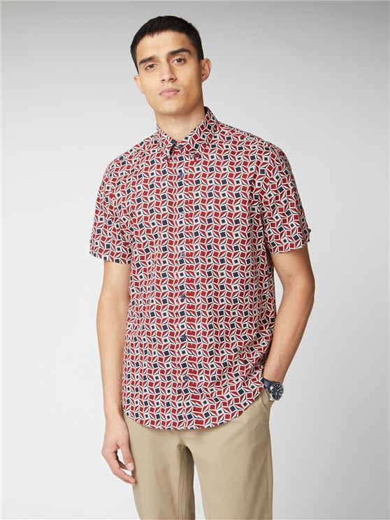 Retro Geo Short Sleeve Shirt