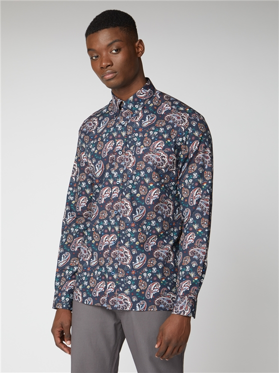 Multi Coloured Paisley Print Shirt