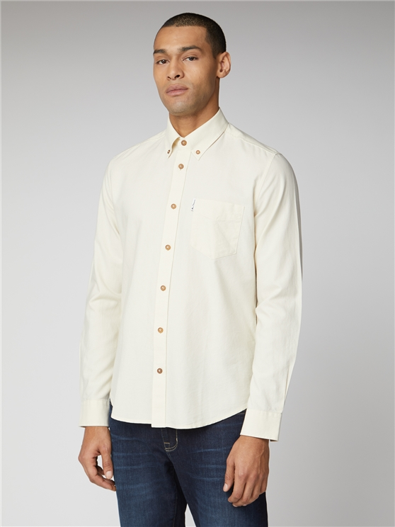 Ecru Signature Button Down Oxford Shirt