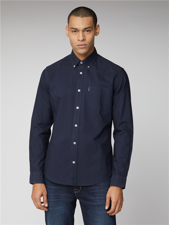 Navy Signature Button Down Oxford Shirt