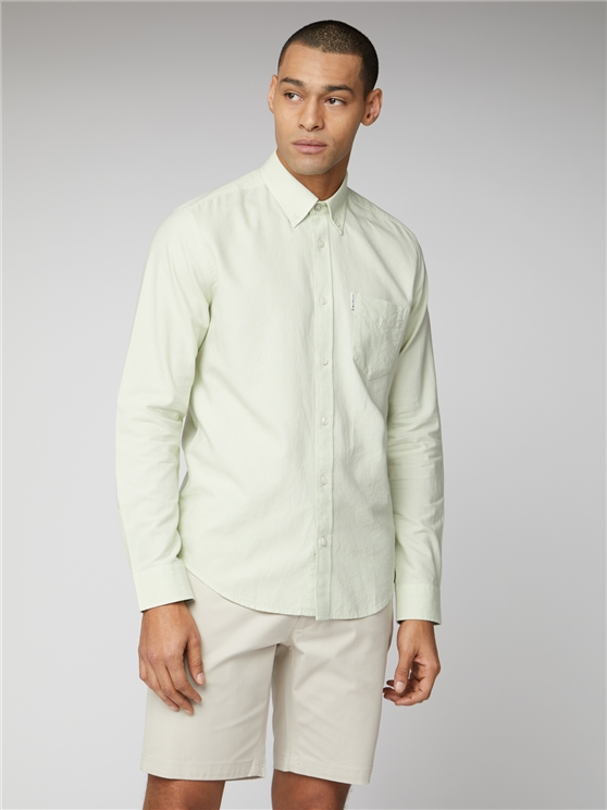 Pale Green Signature Button Down Oxford Shirt