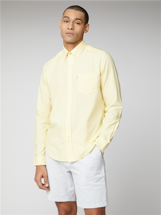 Yellow Signature Button Down Oxford Shirt