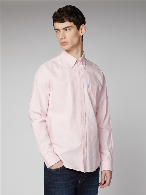 Pale Pink Signature Button Down Oxford Shirt