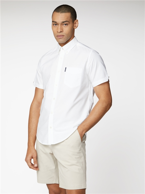 Signature White Button Down Oxford Shirt