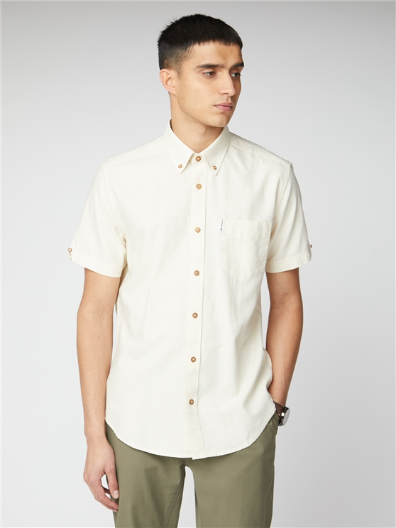 Signature Ecru Button Down Oxford Shirt
