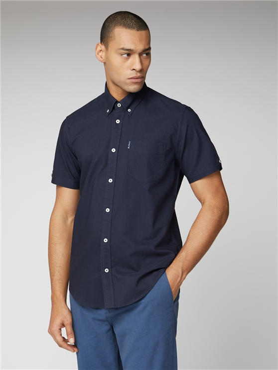 Signature Navy Button Down Oxford Shirt