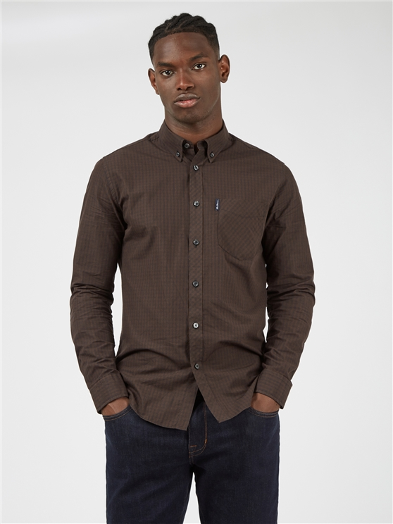 Long Sleeved Cocoa Signature Gingham Shirt