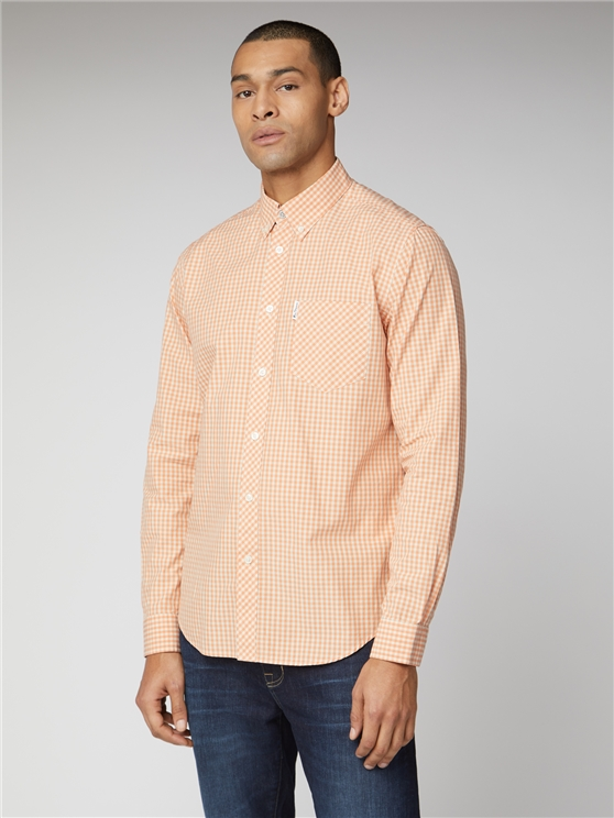 Signature Peach Mod Fit Gingham Shirt