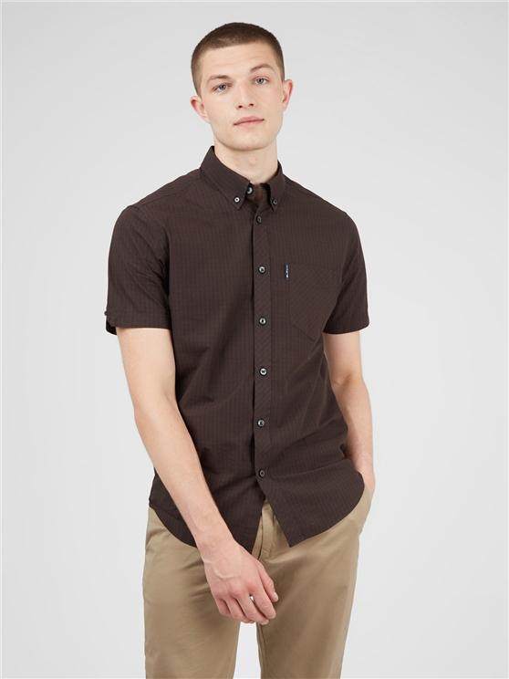 Short Sleeved Cocoa Signature Gingham Shirt