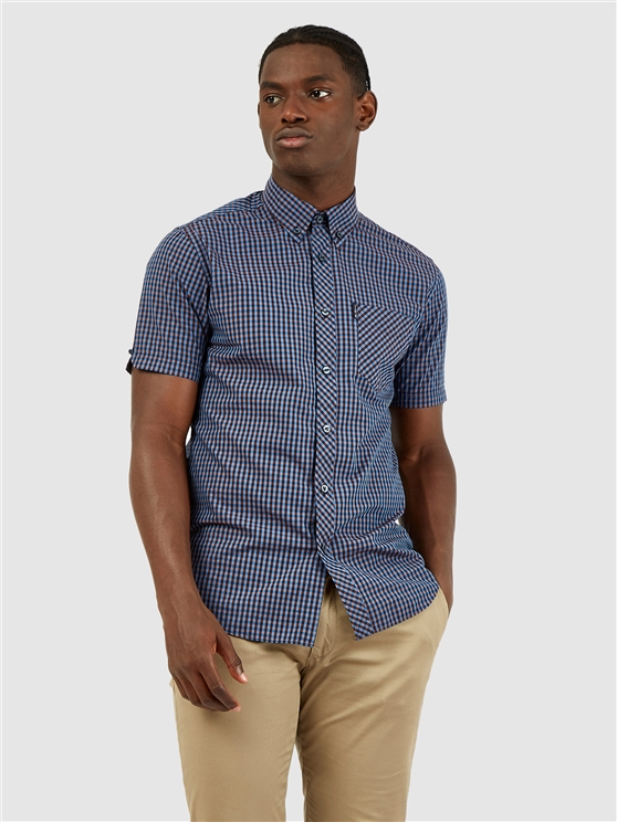Short Sleeved Signature Gingham Shirt