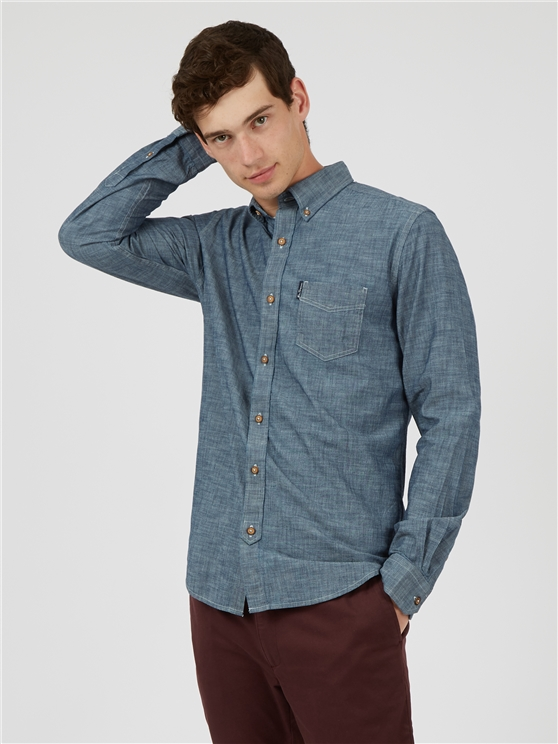 Navy Chambray Shirt