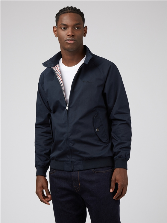 Signature Navy Blue Harrington Jacket