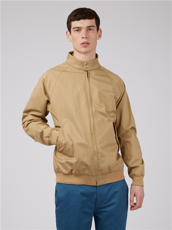 Signature Sand Beige Harrington Jacket