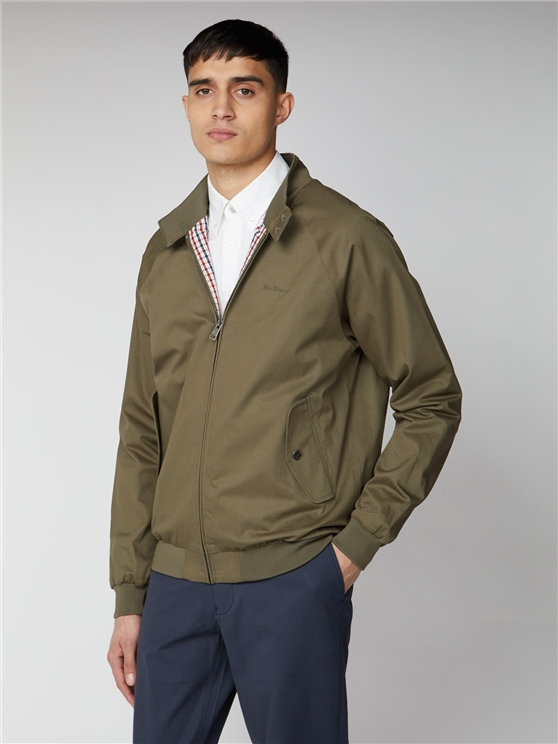 Signature Khaki Green Harrington Jacket