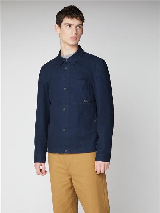 Dark Navy Blue Trucker Jacket