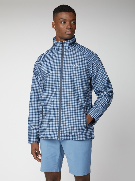 Blue Checked Shower Resistant Jacket