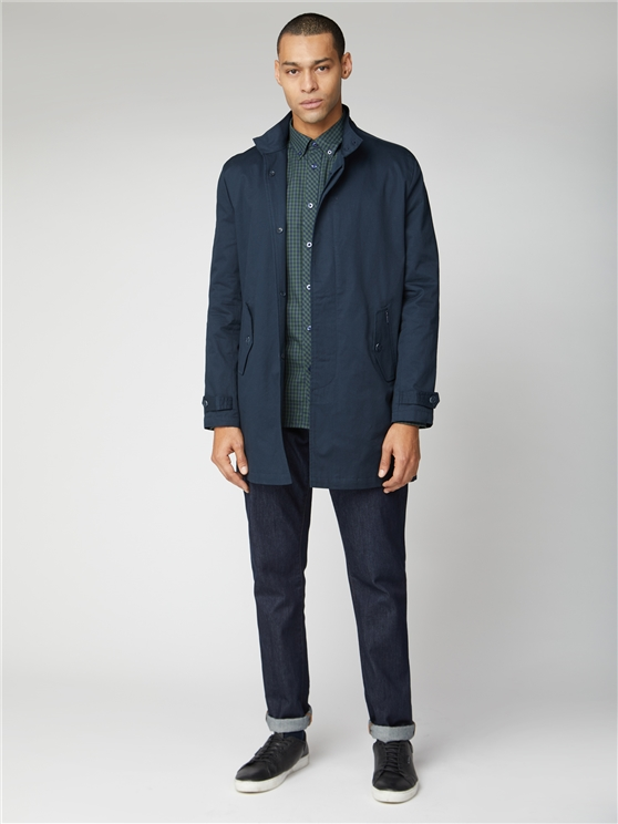 Navy Blue Button Up Mac
