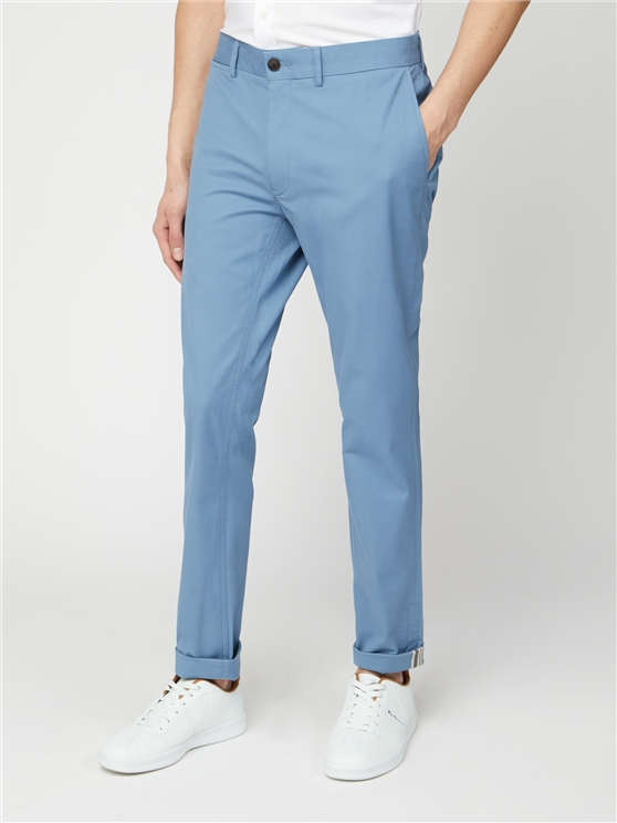 Marine Blue Signature Skinny Fit Stretch Cotton Chinos