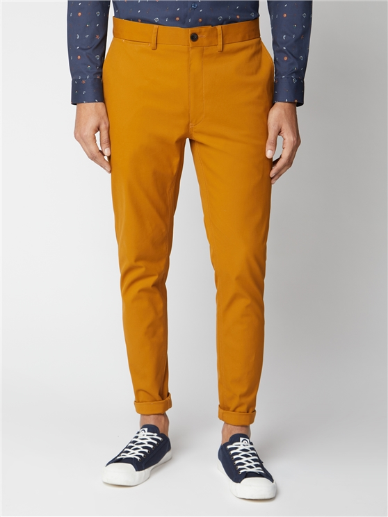 Golden Yellow Signature Skinny Fit Stretch Cotton Chinos